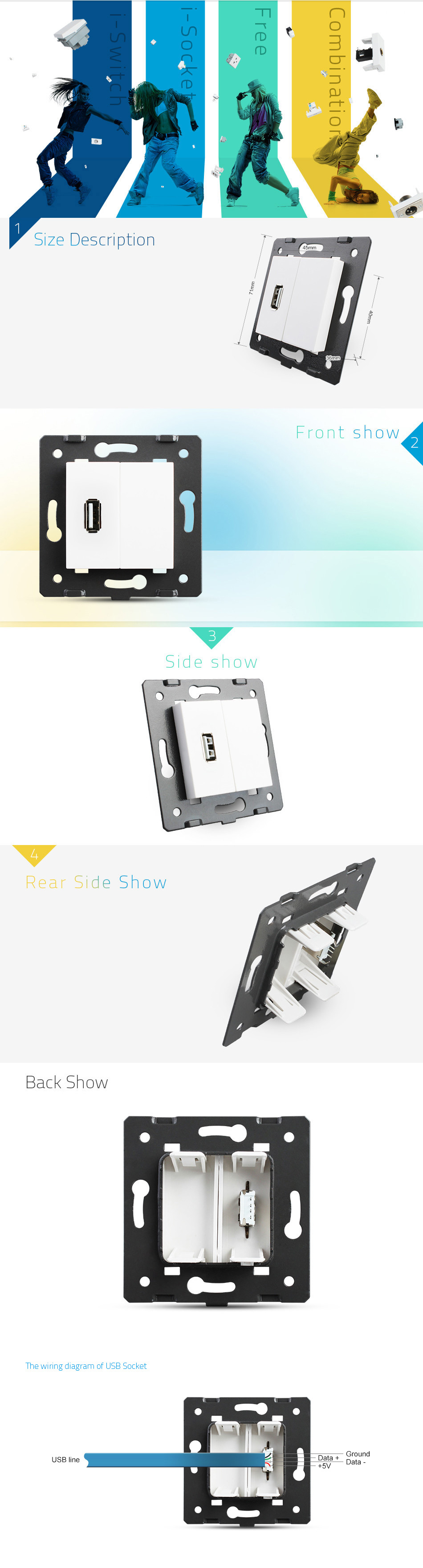 hight resolution of hdmi socket module livolo touch wall switch