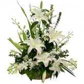 Cos de lux cu crini si orhidee imperiala