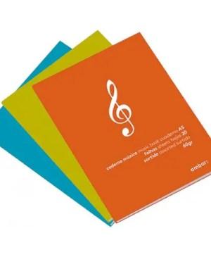 Caderno de música A5 – 20 folhas AMBAR