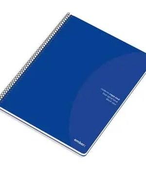 Caderno A5 pautado espiral de 80 folhas AMBAR