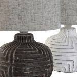 Candeeiro mesa cerâmica 29 cm- 1 unidade