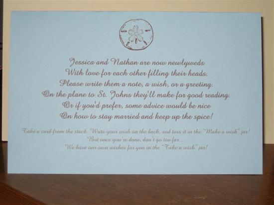 Help Wishing JarTree Wording DIY Project Wedding Forums