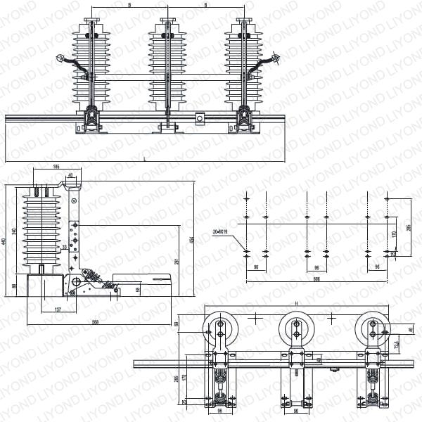 LYE105 JN22B-40.5/31.5 Indoor AC high voltage earthing