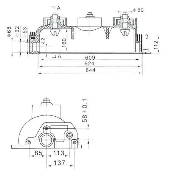 drawing-of-SF6-12-load-break-switch-lower-housing-3
