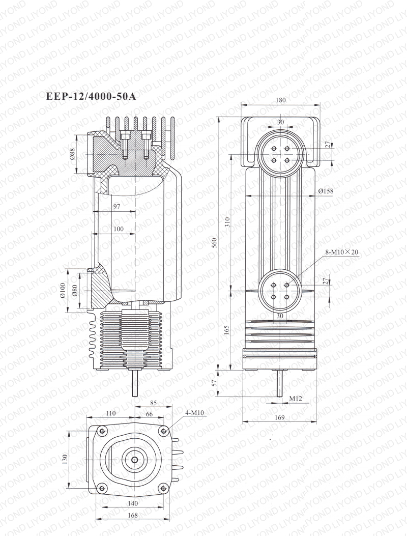 12kV EEP-12-4000-50A Embedded Cylinder For vacuum circuit