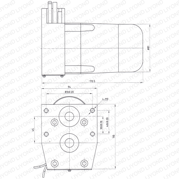 AC/DC Motor for Outdoor Post-mounted Vacuum Circuit