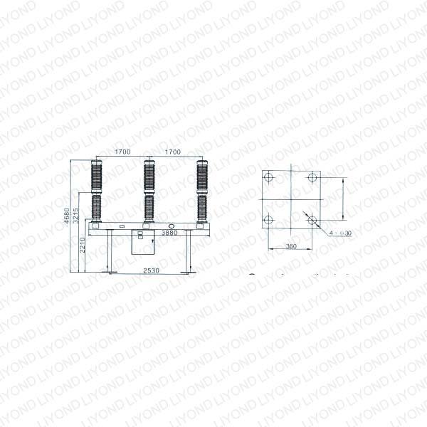 LW36-126 KV Type Outdoor Self-evolving Sf6 H.V. Circuit