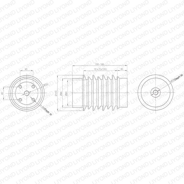 Line post insulator epoxy resin switchgear LYC295