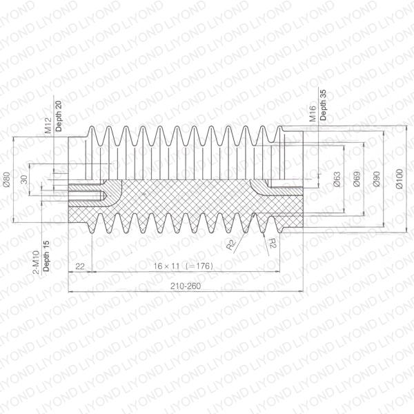 Strength insulator epoxy resin circuit breaker LYC330
