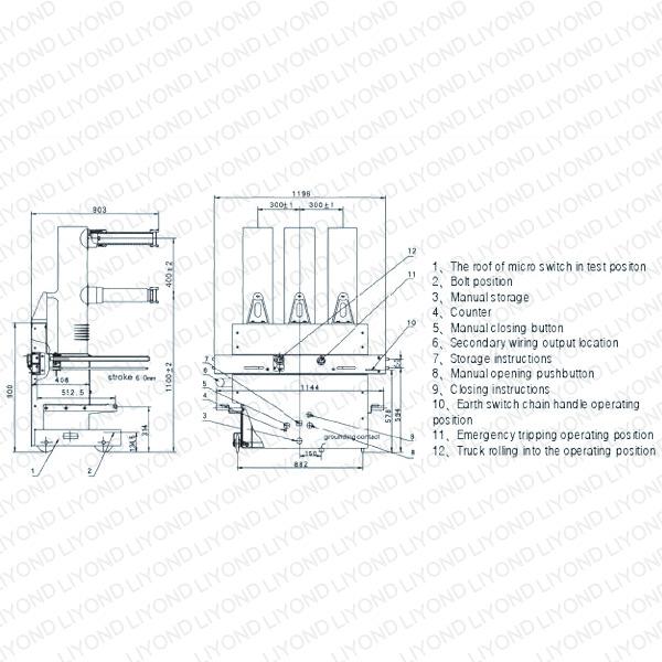 ZN85-40.5/T Type Indoor High Voltage Indoor Vacuum Circuit