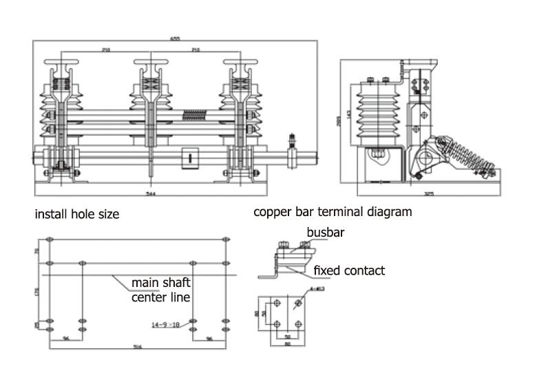 JN15-24/D31.5 Motorized earthing switch Motorized earthing