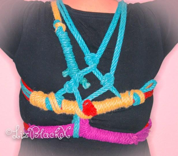 Tie Me Up - Pentacle Chest Tie Back view  Copyright Liz BlackX