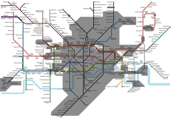Actually Underground Tube Map