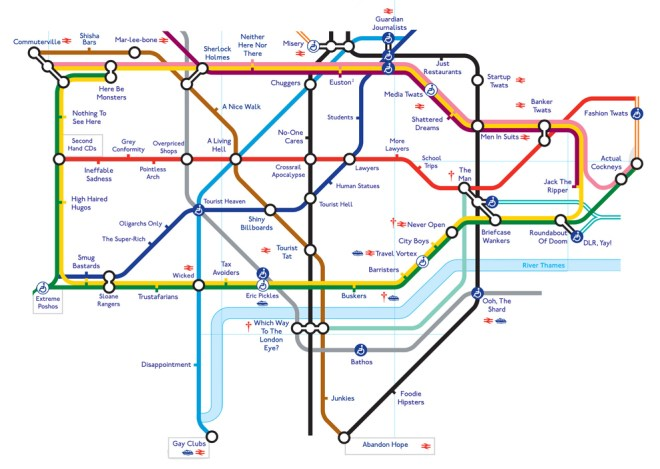True Tube Map