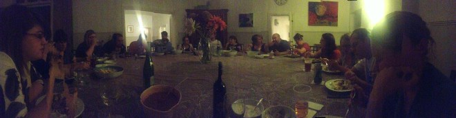 Big cottage big table