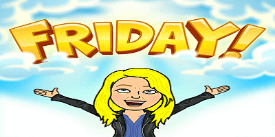Thank Bitmoji It's Friday