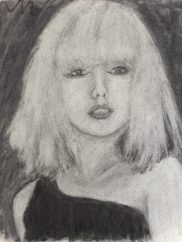 Debs in charcoal