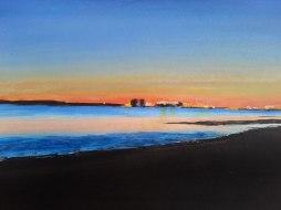 Acrylic sunset