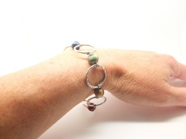 Silver circles and pearls