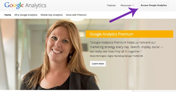 Already Have a Google Account Setting Up Google Analytics Screen