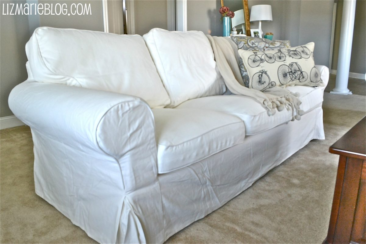 white slipcover chair and ottoman personalized beach new ikea couches liz marie blog