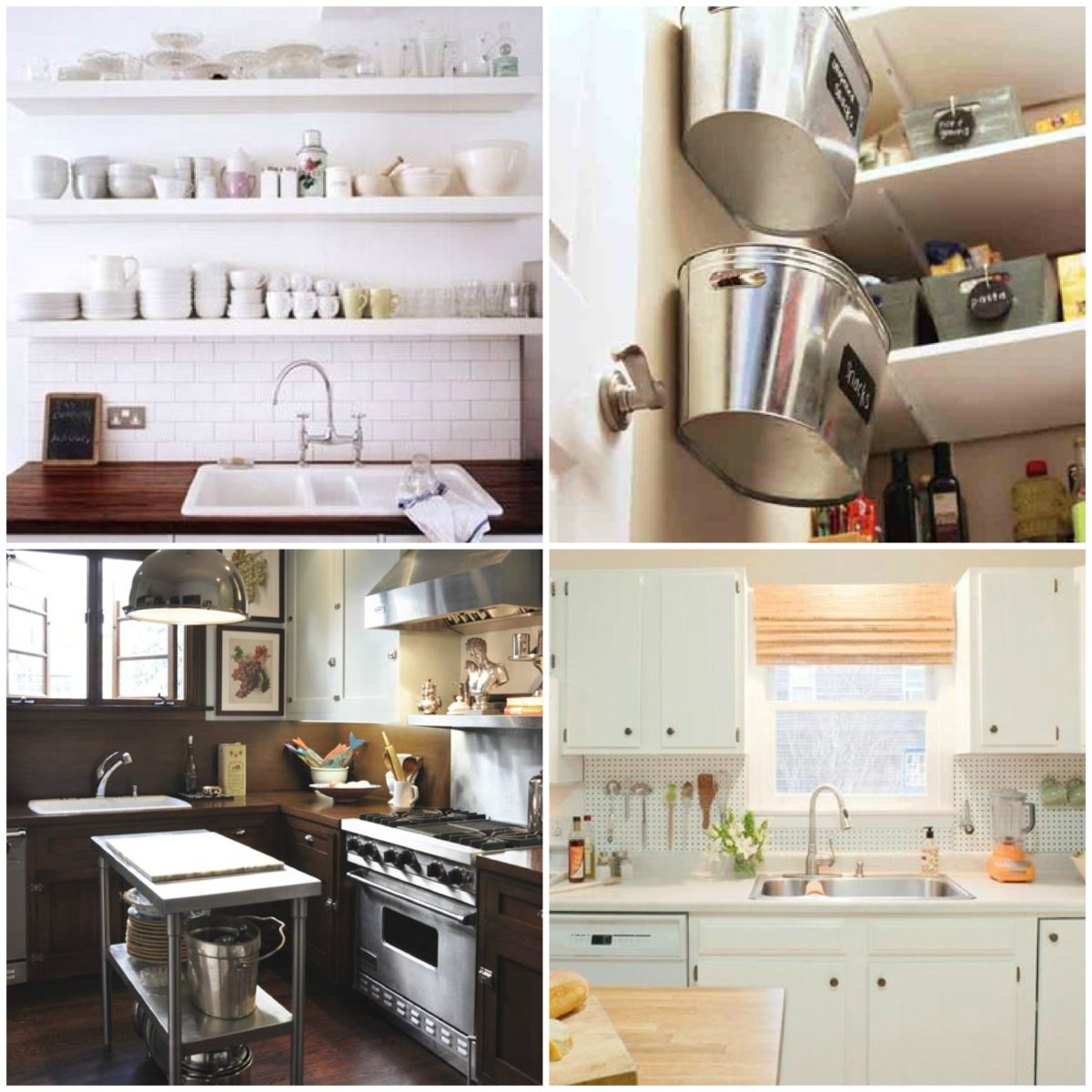 Maximize Small Kitchen Space Part - 49: ... Our Floor Space For Storage. We Need To Build Up And Use Our Ceiling  Height In Our Storage. Bookshelves Can Store More Than Books And Utilize  The Height ...