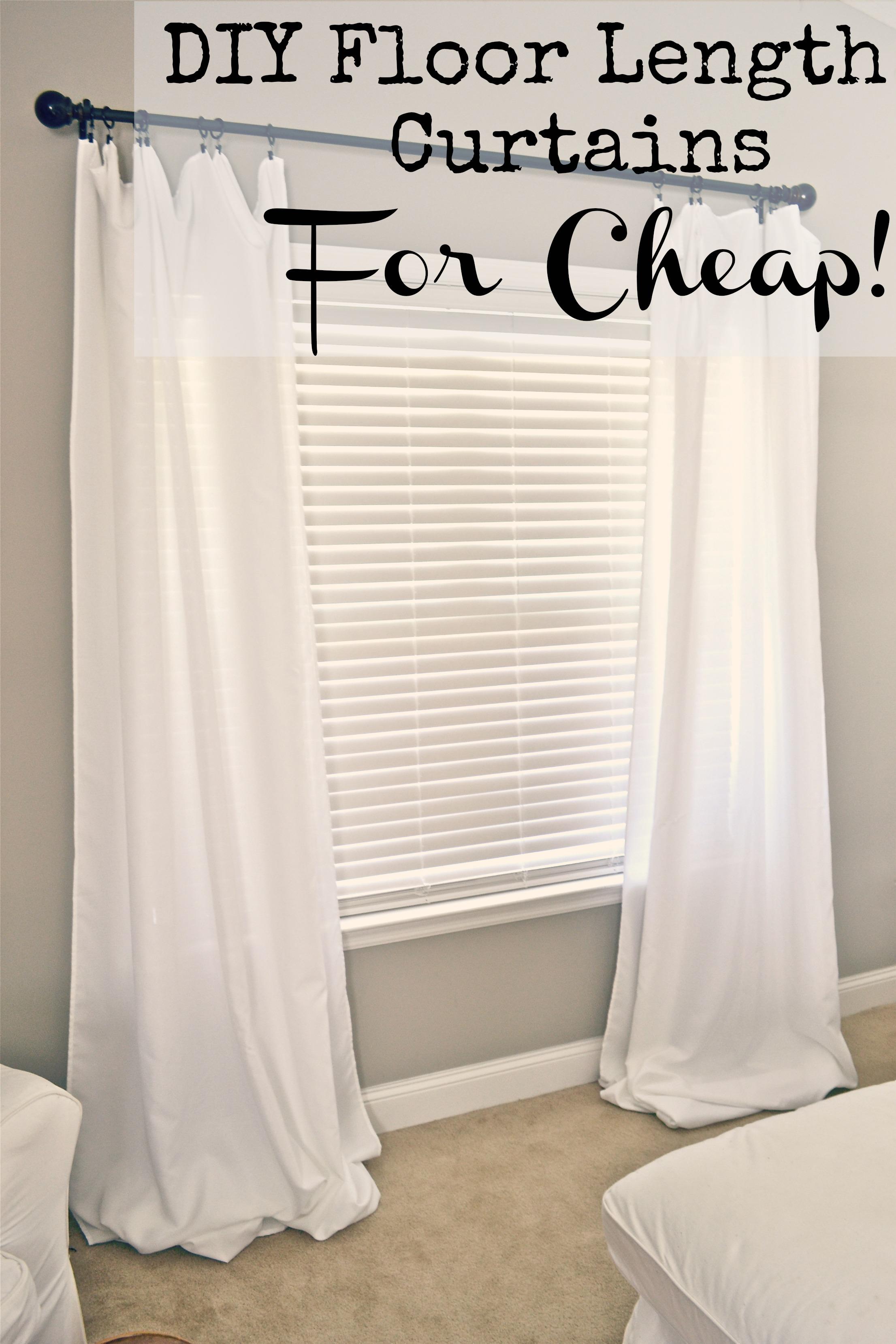 DIY Floor Length Curtains Hey Guys
