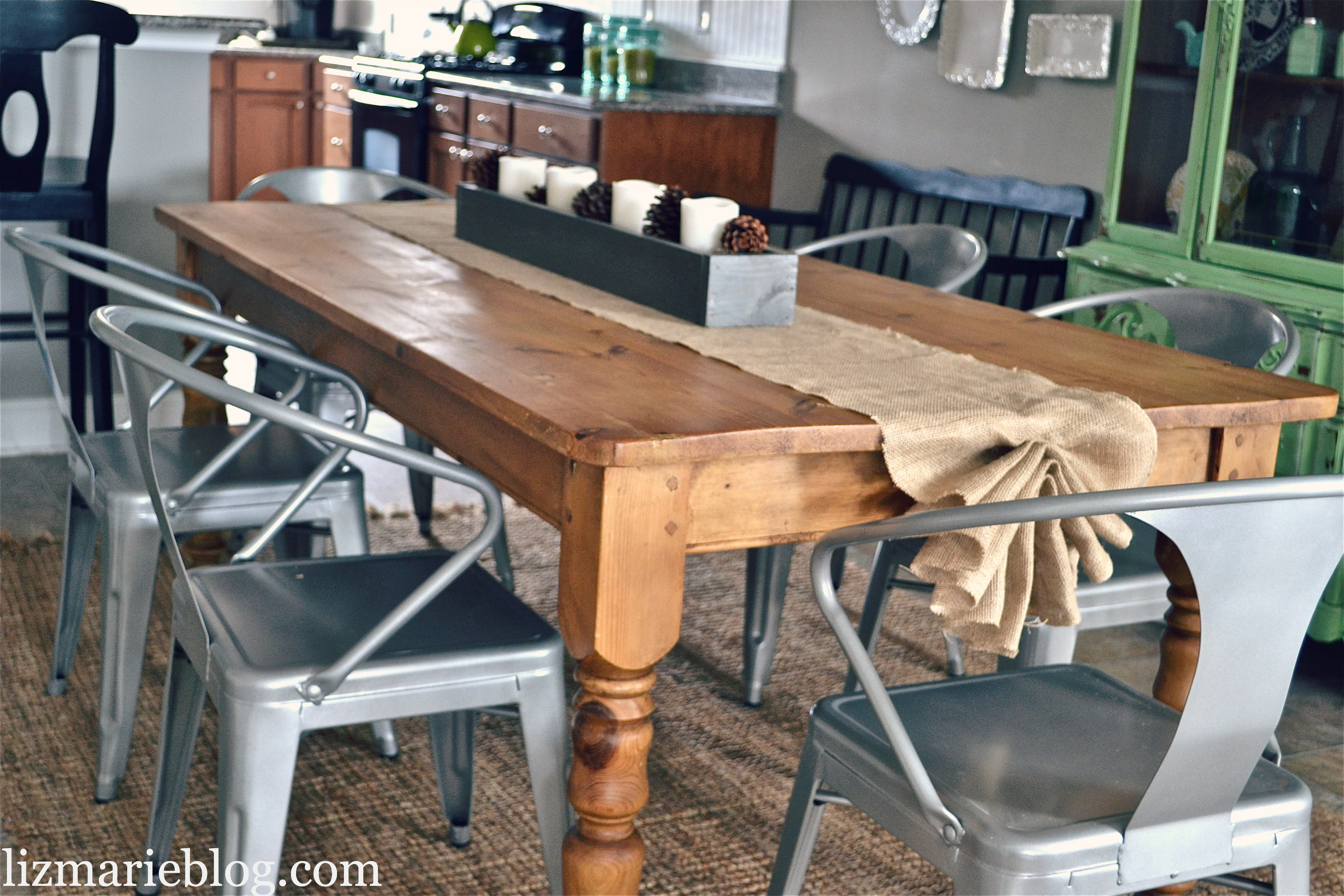 diy burlap table runner - liz marie blog