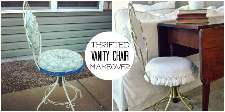 Thrifted Vanity Chair Makeover - Liz Marie Blog