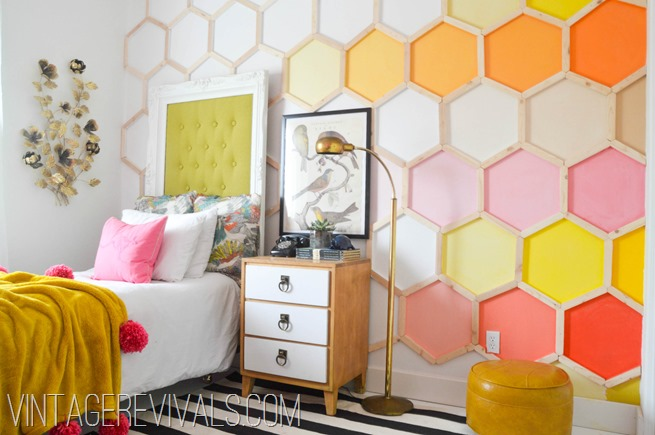 Honeycomb Hexagon Wall @ Vintage Revivals-2[2]