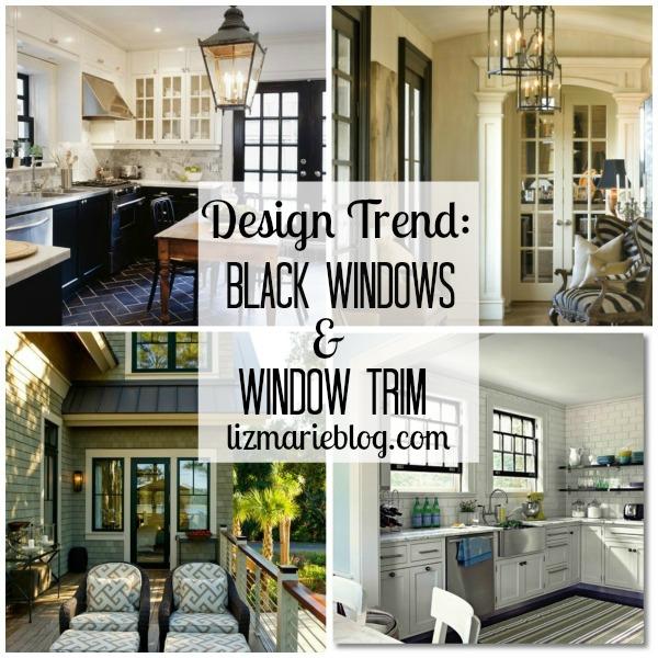 Design trend black window trim liz marie blog for Interior design styles black and white