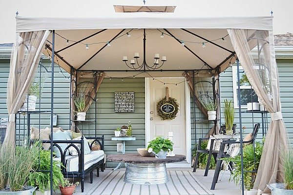 Deck Decorating On A Budget Diy Patio Makeover
