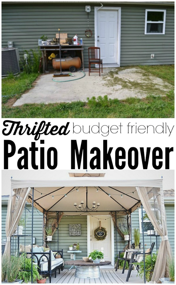 Back Patio Makeover Full Reveal & Source List - Liz Marie Blog on Patio Cover Ideas On A Budget id=76674