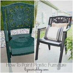 How To Paint Plastic Chairs Cream Lounge Chair Furniture A Makeover Liz Marie Blog