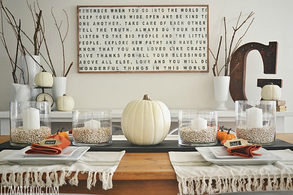 Diy Chalkboard Table Runner Liz Marie Blog