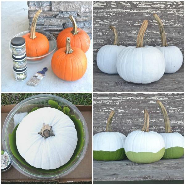 DIY Ombre Paint Dipped Pumpkins - lizmarieblog.com