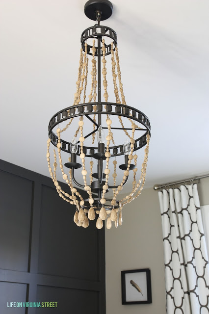 DIY Wood Bead Chandelier 9