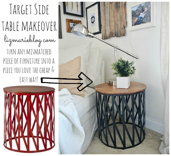 target table makeover & the best bronze spray paint! - liz marie blog