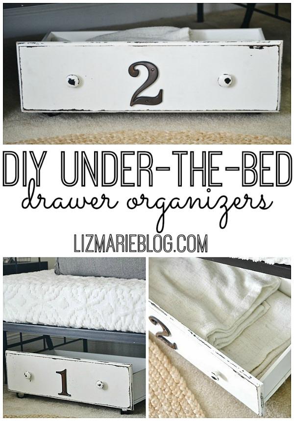 diy under the bed storage liz marie blog. Black Bedroom Furniture Sets. Home Design Ideas