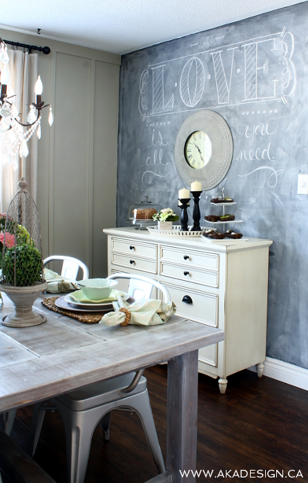 Trend To Love Dining Room Chalkboard Walls Liz Marie Blog