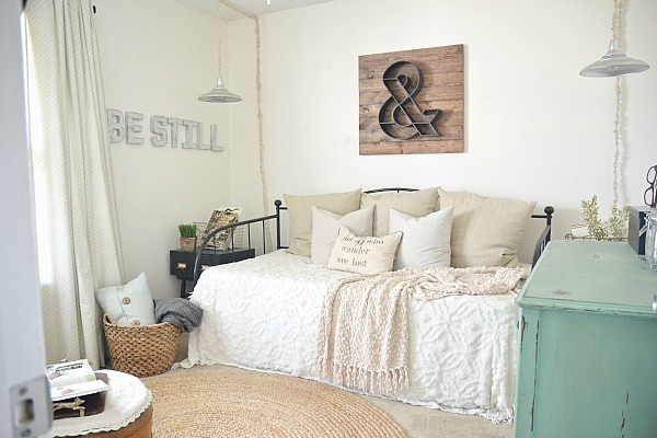 This Is How We Basically Had The Front Guest Bedroom Styled For Putting The  House Up For Sale. The Closet U0026 The Dresser Hold Craft Supplies, And Other  Odds ...