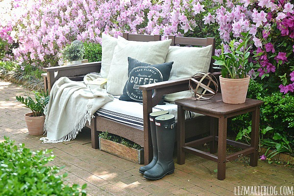 Lovely Lovely spring patio with eco friendly patio furniture lizmarieblog