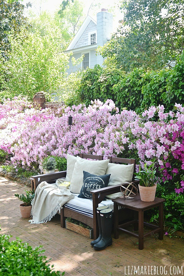 Fancy Lovely spring patio with eco friendly patio furniture lizmarieblog