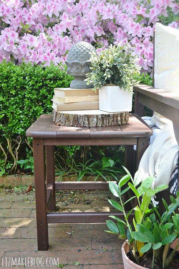 Elegant Lovely spring patio with eco friendly patio furniture lizmarieblog