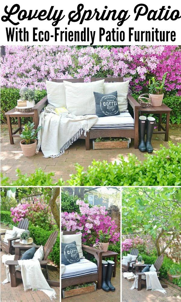 Lovely Spring Patio With Eco Friendly Patio Furniture   Lizmarieblog.com