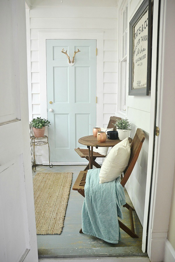 blue door color ideas - Behr Whipped Mint