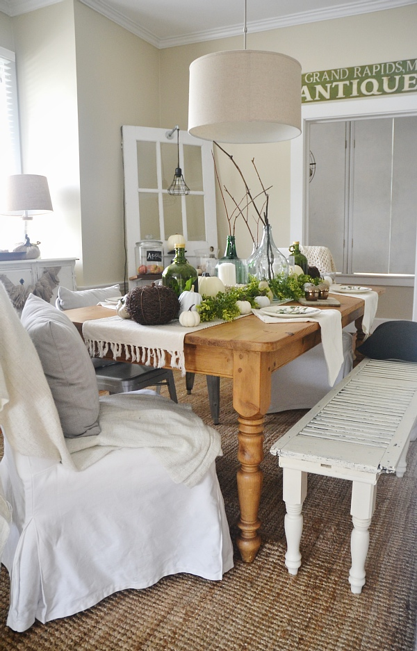 Fall dining room lmb rental liz marie blog - Home decor rental collection ...