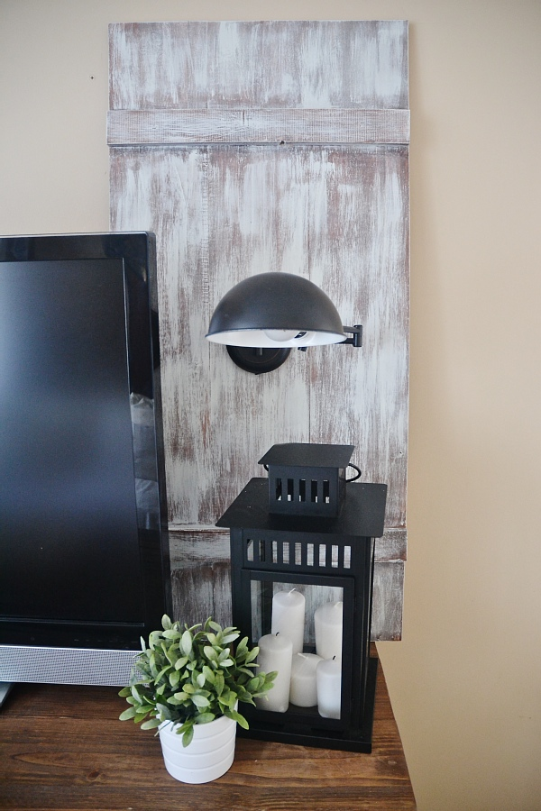 DIY Pendant Light Shutters - Make some renter friendly lighting super easily! They would be great in any room of your house!