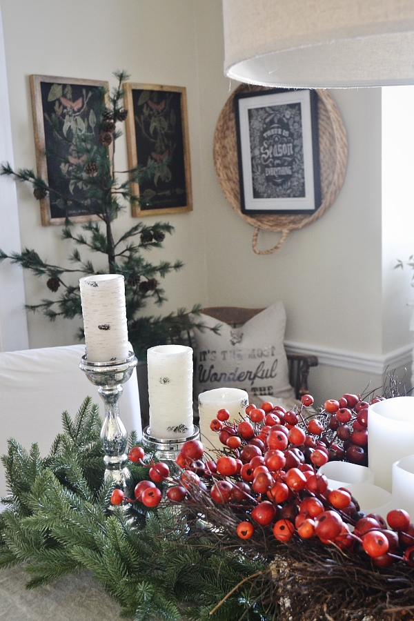 The Best Simple Dining Room Ideas: Simple Rustic Christmas Dining Room Decor