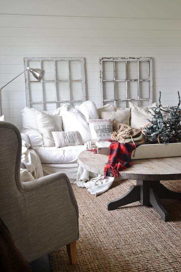 Simple Cozy Cottage Living Room - lizmarieblog.com
